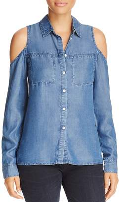 Alison Andrews Cold Shoulder Chambray Top - 100% Exclusive