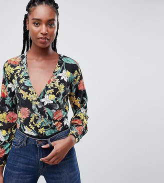 Missguided Tall Floral Wrap Body