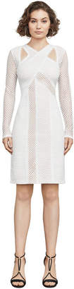 BCBGMAXAZRIA Jaylynn Mesh Patchwork Dress