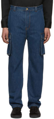 Acne Studios Bla Konst Indigo Natural Garco Cargo Pants