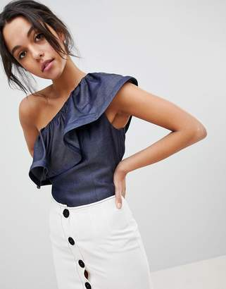 Coast Alana One Shoulder Ruffle Top