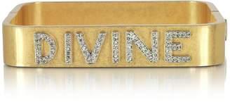 Tory Burch Divine Message Vintage Goldtone Cuff Bracelet