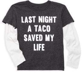 Chaser Little Boy's& Boy's Tacos Save Lives Tee - Black - Size 3