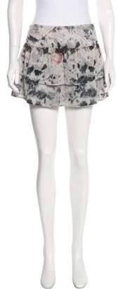 IRO Printed Silk Skirt