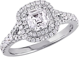 Affinity Diamond Jewelry Asscher Cut Diamond Ring, 14K, 1.15 cttw, by Affinity