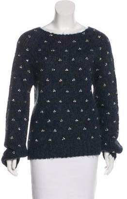 Dries Van Noten Jewel-Embellished Alpaca & Merino Wool Sweater