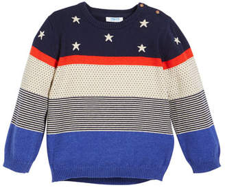 Mayoral Stars, Dots & Stripes Sweater, Size 12-36 Months