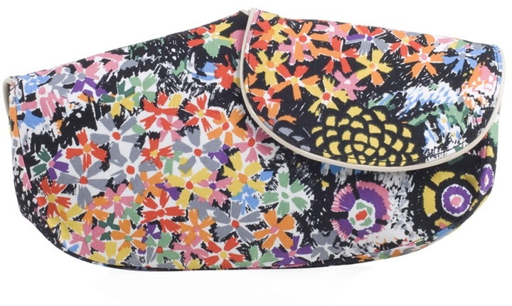 SEE BY CHLOÉ - Canvas floral clutch bag