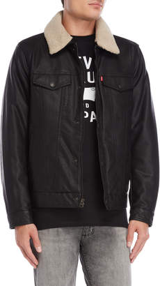 Levi's Faux Leather Sherpa Trucker Jacket