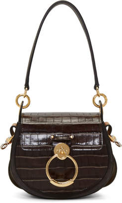 Chloé Brown Croc Small Tess Bag