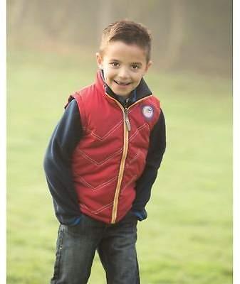 Horseware Kids Boys Reversible Gilet Infant Sleeveless Jacket Zip Full Contrast