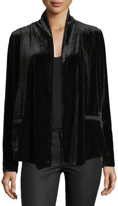 Bobeau Isabeli Open-Front Velvet Jacket $59 thestylecure.com