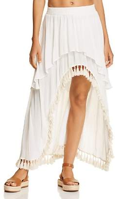 Surf Gypsy Tassel High/Low Skirt Swim Cover-Up