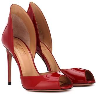 Aquazzura Concorde 105 patent leather pumps