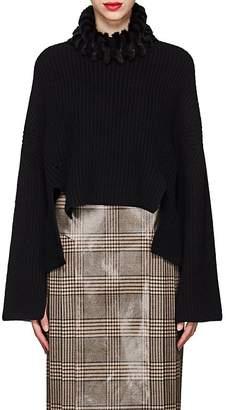 Fendi Women's Mink-Fur-Trimmed Cashmere Sweater