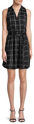 INC International Concepts Gingham Sleeveless Shirtdress