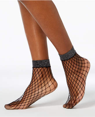 INC International Concepts I.n.c. Shimmer Fishnet Ankle Socks