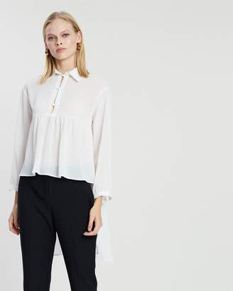 Amelia Button Front Sheer Shirt