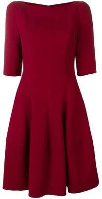 Talbot Runhof flared midi dress