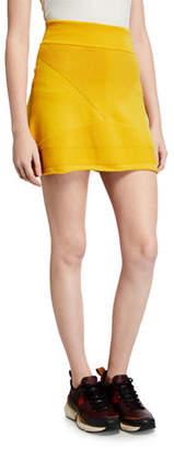 Victor Glemaud Short A-Line Wool Skirt