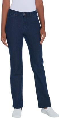 Denim & Co. Petite Perfect Denim Lightly Bootcut 5-Pocket Jeans