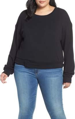 BP Belted Fleece Sweatshirt