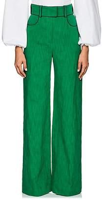 Martin Grant Women's Linen-Cotton Wide-Leg Trousers