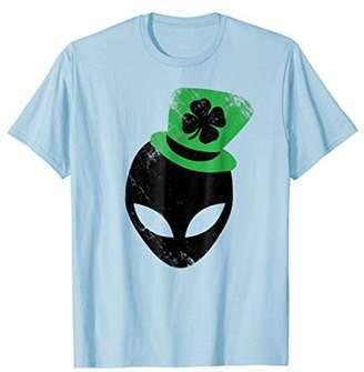 Lucky Alien Shirts Irish Alien Sci-Fi Tees UFO Lucky Clover
