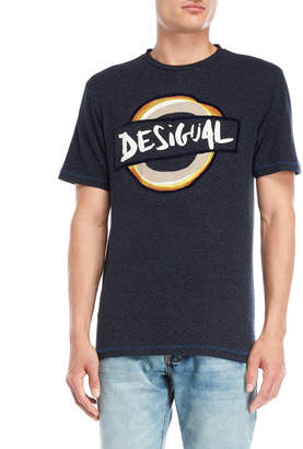 Desigual Navy Graphic Tee