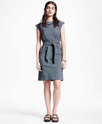 Slit-Shoulder Wool Dress $398 thestylecure.com