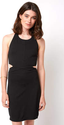 Bobi Cutout Halter Bodycon Dress