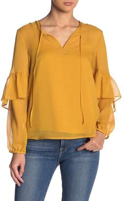 1 STATE 1.State Sheer Check Blouse