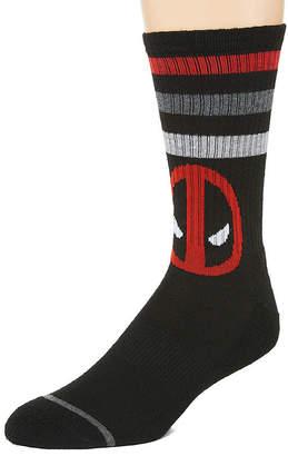Marvel Novelty Socks 1 Pair Deadpool Crew Socks-Mens