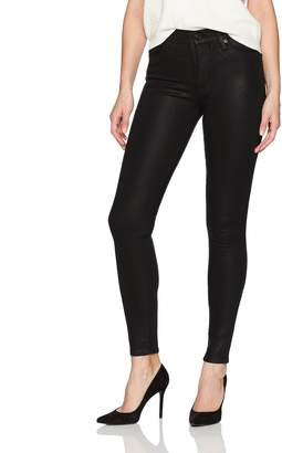 Hudson Women's Barbara High Waist Super Skinny Black Jean