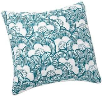 Pottery Barn Teen Gemma Floral Reversible Sham, Euro, Sea Blue