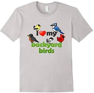 I Love My Backyard Birds Cute Cartoon T-Shirt