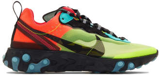 Nike Green and Blue React Element 87 Sneakers