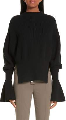 Alexander Wang Side Split Merino Wool & Cashmere Blend Sweater