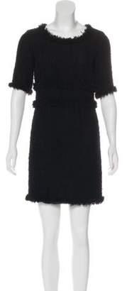 Chanel Tweed Mini Dress Black Tweed Mini Dress