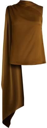 Osman Diana draped-panel asymmetric satin top