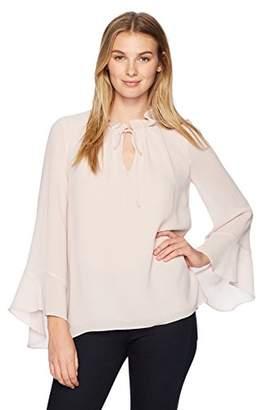 Ellen Tracy Women's Full Sleeve Blouse with Tie