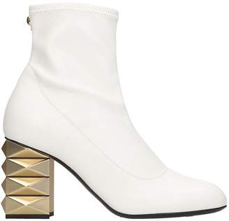 Giuseppe Zanotti High Heels Ankle Boots In White Tech/synthetic