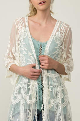 POL Sheer Lace Kimono