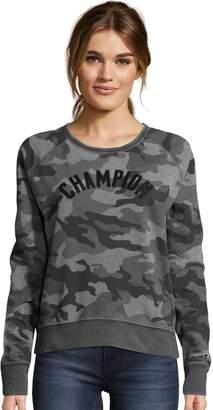 Champion Women's Heritage Vintage Dye Camo Print Top