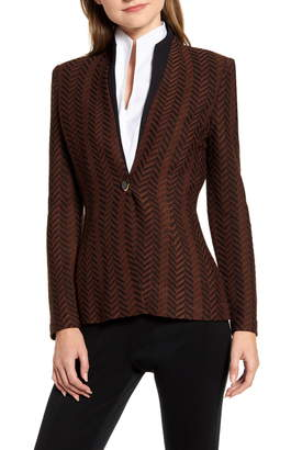 Ming Wang Chevron Knit Jacket