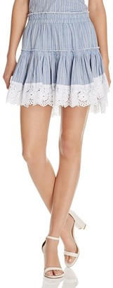 MISA Los Angeles Clemence Ruffle Skirt $238 thestylecure.com
