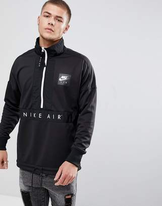 Nike Half-Zip Jacket In Black 918324-010