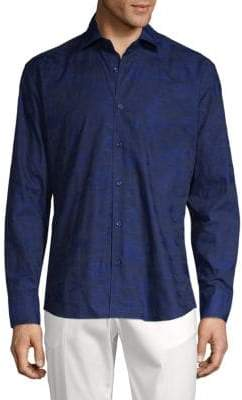 Camo-Print Button-Down Shirt