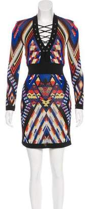 Balmain Geometric Jacquard Dress