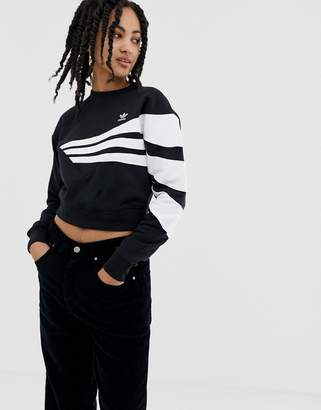 adidas Linear sweater in black